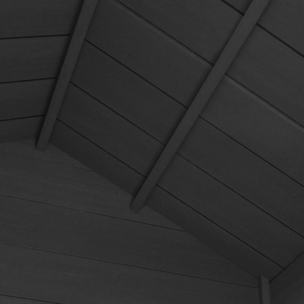 Trädgårdsbod WPC 178x118x237 cm grå